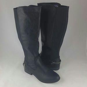 Nautica Women's Ridgeland Riding Boot, Black, 8.5